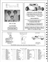 Height of Land Township Owners Directory, Ad - Yak Shack Beauty Salon, Jepson's Auto Body, Ketter's Meats, Becker County 1992