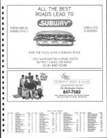 Holmesville Township Owners Directory, Ad - Subway, Detroit Paint and Glass, Becker County 1992