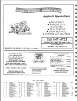 Lake View Township Owners Directory, Ad - Driveway Service, Zorbaz Pizza, Becker County 1992