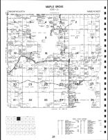 Maple Grove Township, Strawberry Lake, White Earth Lake, Becker County 1992