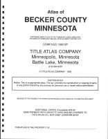 Title Page, Becker County 1992