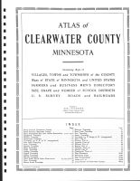 Title Page, Clearwater County 1912