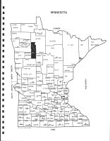 Minnesota State Map, Clearwater County 1982