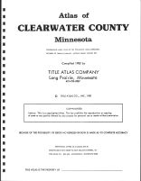 Title Page, Clearwater County 1982