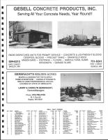 Copley Township Owners Directory, Ad - Gesell Concrete Products, Inc., Gerbaracht's Golden Acres, Clearwater County 1992