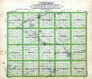 Jackson County Outline Map, Jackson County 1936