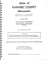 Title Page, Kanabec County 1982