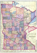 Minnesota State Map, Lac Qui Parle County 1913