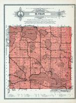 Elysian Township, Lake Frances, German, Jefferson, Rice, Steele, Silver, Round, Sasse, Fish, Le Sueur County 1912