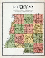Le Sueur County Outline Map, Le Sueur County 1912