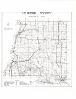 Le Sueur County Map, Le Sueur County 1973