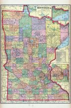 Minnesota State Map, Martin County 1911