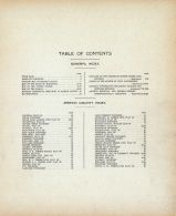 Table of Contents, Martin County 1911