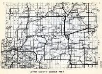Aitkin County - Central, Spencer, Aitkin, Esquagamah, Shamrock, Spalding, Rice River, Kimberly, Davidson, Glen, Lee, Minnesota State Atlas 1954
