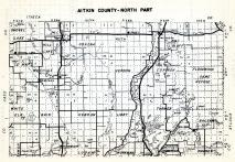 Aitkin County - North, Workman, Shamrock, Haugen, Hebron, Verdon, Quadna, Shovel Lake, Floodwood, Cornish, Minnesota State Atlas 1954