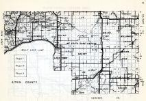 Aitkin County - Wealthwood, Farm Island, Hazelton, Malmo, Jewett, Glen, Williams, Wagner, Millward, Pliny, Beaver, Minnesota State Atlas 1954