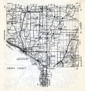 Anoka County - Grow, Saint, Francis, burns, Oak Grove, Bethel, Linwood, Ramsey, Soderville, Columbus, Blaine, Minnesota State Atlas 1954