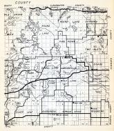 Becker County 1 - Bush, Round Lake, Savanna, Bush, Pine Point, Two Inlets, Brand, Shell Lake, Carsonville, Osage, Minnesota State Atlas 1954
