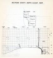 Beltrami County - North and East, Red, Lake Waskish, Deer River, Tamarack River, Minnesota State Atlas 1954