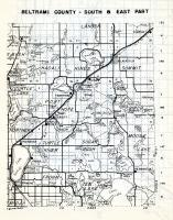 Beltrami County - South and East, Hagali, Hines, Summit, Langor, Turtle Lake, Port Hope, Frohn, Ten Lake, Minnesota State Atlas 1954