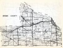 Brown County, Eden, Prairieville, Home, Milford, Leavenworth, North Star, Stark, Sigel, Cottonwood, Minnesota State Atlas 1954