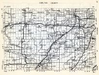 Carlton County, Beseman, Red Clover, Progress, Perch Lake, Knofe Falls, Thomson, Lakeview, Eagle, Corona, Minnesota State Atlas 1954