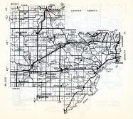 Carver County, Hazelton, Hollywood, Watertown, New Germany, Mayer, Hennepin, Camden, Waconia, Lake Town, Minnesota State Atlas 1954