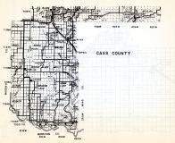 Cass County, McKinley, Bullmoose, Ansel, Bungo, Mildred River, Walden, Moose Lake, Meadow Lake, Bryon, Popla, Minnesota State Atlas 1954