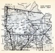 Cass County - North, Chippewa, Wilkinson, Leech Lake, Whipholt, Brevik, Longville, Smoky Hollow, Deerfield, Hiram, Minnesota State Atlas 1954