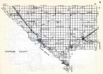 Chippewa County, Kragero, Big Bend, Mandt, Grace, Louriston, Woods, Tunsberg, Rosewood, Havelock, Lone Tree, Minnesota State Atlas 1954