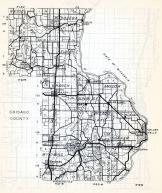 Chisago County, Nessel, Rusheba, Fish Lake, Sun Rise, Branch, Amador, Shafer, Wyoming, Minnesota State Atlas 1954