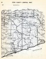 Cook County - Central, Maple Hill, Colvin, Grand Marais, Hovland, Devils Track Lake, Minnesota State Atlas 1954