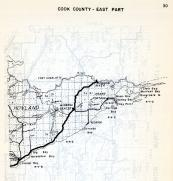 Cook County - East, Hovland, Grand Portage, Pigeon River, Big Horseshoe Bay, Governors Is., Minnesota State Atlas 1954
