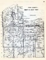 Cook County - North and West, Little Rock Falls, Big Saganaga Lake, Sea Gull, Rosebush, Gun Flint, Devils Elbow, Minnesota State Atlas 1954