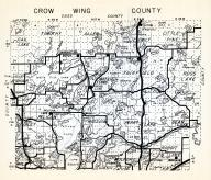 Crow Wing County 1, Jenkiins, Timothy, Allen, Emily, Little Pine, Jenkins, Water Town, Fairfield, Minnesota State Atlas 1954