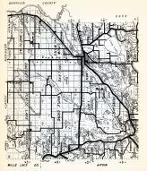 Crow Wing County 2, Oak Lawn, Lake Edward, Center, Nokay Lake, Crow Wing, Baxter, St. Mathias, Daggett, Roosevelt, Minnesota State Atlas 1954