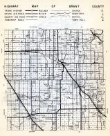 Grant County Highway Map, Minnesota State Atlas 1954