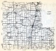 Isanti County, Dalbo, Maple Ridge, Stanchfield, Wyanett, Springvale, Cambridge, Bradford, Spencer Brook, Minnesota State Atlas 1954