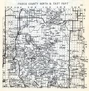 Itasca County - North and East, Bigfork, Stokes, Marcell, Balsam, Bearville, Minnesota State Atlas 1954
