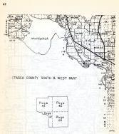 Itasca County - South and West, Winnigiqoshish, Rice Island, Morse, Zemple, Oten-Eagen, Deer River, Minnesota State Atlas 1954