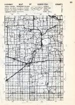 Kandiyohi County Highway Map, Minnesota State Atlas 1954