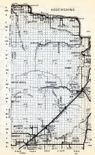 Koochiching County 1, Sturgeon River, Grand Falls, Warren, Englewood, Wildwood, Minnesota State Atlas 1954