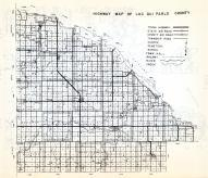 Lac Qui Parle County Highway Map, Minnesota State Atlas 1954