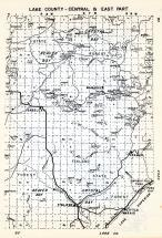Lake County - Central and East, Beaver Bay, Crystal Bay. Isabellai, Wanless, Finland, Cramer, Little Marais, Minnesota State Atlas 1954