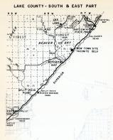 Lake County - South and East, Beaver Bay, Finland, Lax Lake, Baptism river State Park, Gooseberry Reef, Crystal Bay, Minnesota State Atlas 1954