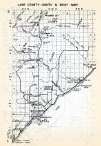 Lake County - South and West, Wales, Highland, Darby Jct., Silver Creek, McNair, Two Harbors, Waldo, Minnesota State Atlas 1954