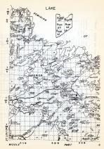 Lake County 1, Superior, Fernberg Tower, White Iron Lake, Basswood, Cominion, National, Minnesota State Atlas 1954
