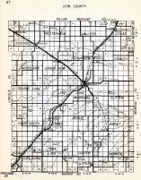 Lyon County, Westerheim, Vallers, Lucas, Eidsvold, Fairview, Stanley, Nordland, Grandview, Island Lake, Minnesota State Atlas 1954