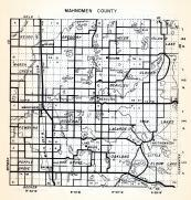 Mahnomen County, Bejou, Gregory, Heier, Island Lake, Marsh Creek, Chief, Beaulieu, Clover, Minnesota State Atlas 1954
