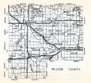 McLeod County, Lynn, Hutchinson, Hale, Winsted, Hassen Valley, Rich Valley, Collins, Sumter, Glen coe, Minnesota State Atlas 1954